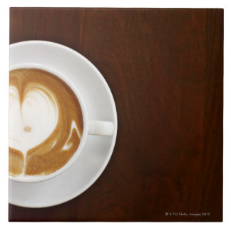Cappuccino with love ceramic tile