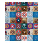 Captain America 75th Anniversary Shield Patchwork Poster