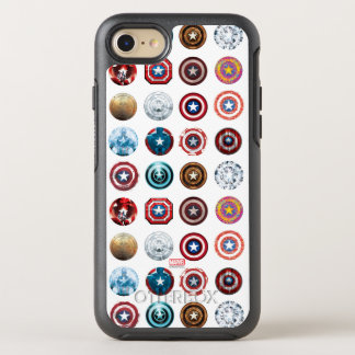 Captain America 75th Anniversary Shield Pattern OtterBox Symmetry iPhone 8/7 Case