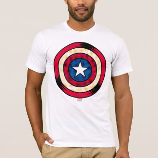 Captain America Halftone Shield T-Shirt