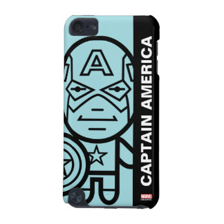 Captain America Stylized Line Art iPod Touch (5th Generation) Cover