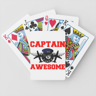 Captain Awesome Bicycle Playing Cards