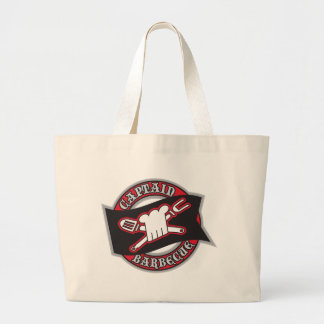 Captain BBQ Large Tote Bag