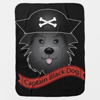 Captain Black Dog - Baby Blanket Pramblankets