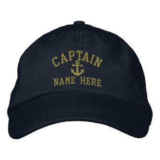 Captain - customisable embroidered hat