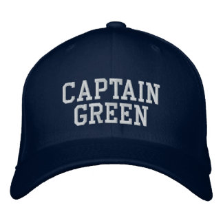 Captain Green Embroidered Baseball Caps
