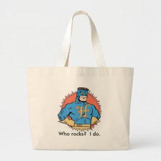 Captain Humility: Who rocks?  I do. Large Tote Bag