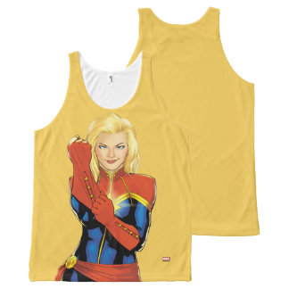 Captain Marvel Fitting Glove All-Over Print Tank Top