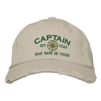 Captain Nautical STAR Personalize it! Embroidery Embroidered Hat