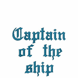 Captain of the ship embroidered polo shirts