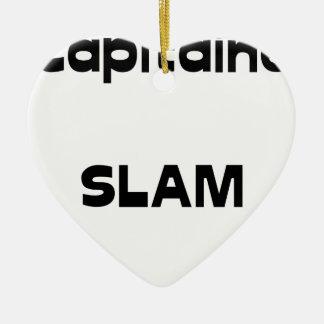 Captain SLAM - Word games - François City Christmas Ornament