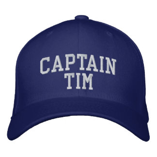 Captain Tim Embroidered Baseball Caps