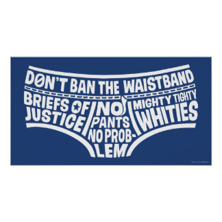 Captain Underpants | Typography Tighty Whities Poster