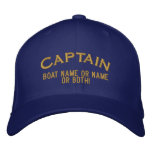 Captain Your Boat Name Your Name or Both! Baseball Cap