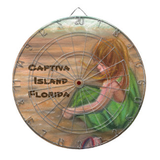 Captiva Island Florida Art Dartboard
