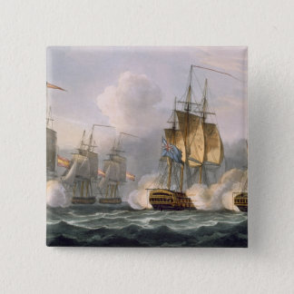 Capture of the Dorothea, July 15th 1798, engraved 15 Cm Square Badge