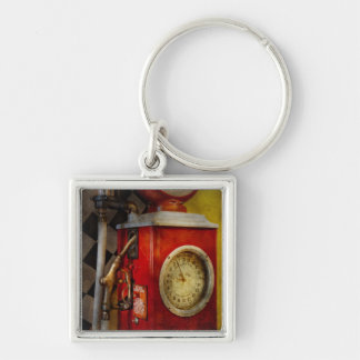 Car - 19 Gallons Silver-Colored Square Key Ring
