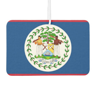 Car Air Fresheners with Flag of Belize