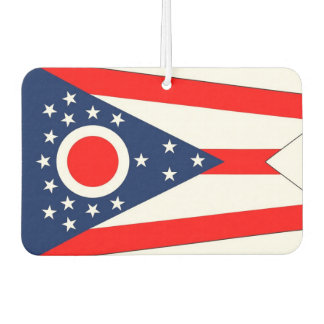 Car Air Fresheners with Flag of Ohio