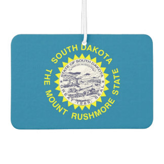 Car Air Fresheners with Flag of South Dakota