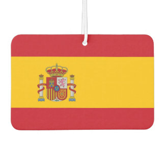 Car Air Fresheners with Flag of Spain