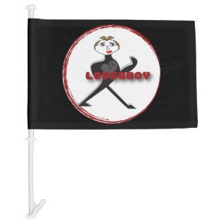 Car Flag LOVERBOY CIRCLE LOGO