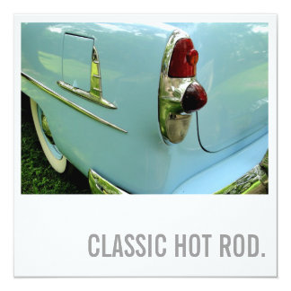 Car Lover 70th Birthday - Hot Rod 13 Cm X 13 Cm Square Invitation Card
