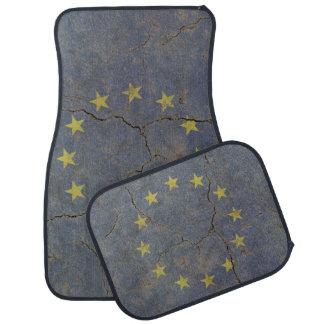 Car Mats Full Set print with grange flag of EU