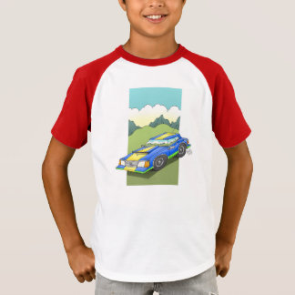 Car on a T-shirt. T-Shirt