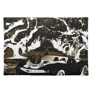 car  pumpkin n shadow placemat
