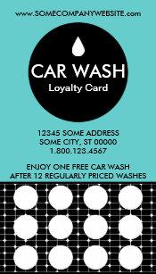 Car Wash Grids Stamp Card