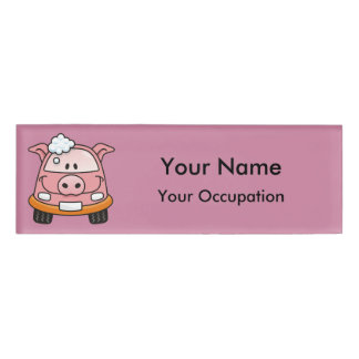 Car wash pig Name Tag