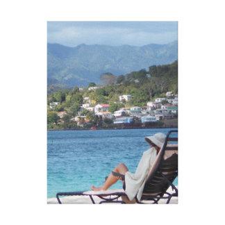 Caracas beach Stretched Canvas Print