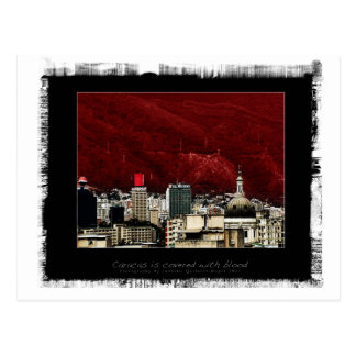 Caracas is coverd with blood postcard
