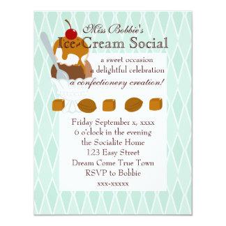 Caramel Covered Ice-Cream 11 Cm X 14 Cm Invitation Card