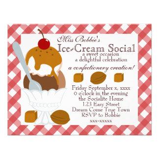 Caramel Covered Ice-Cream Custom Invite
