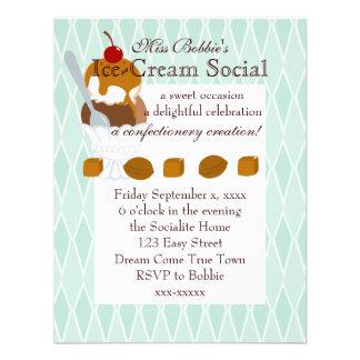 Caramel Covered Ice-Cream Custom Invitations
