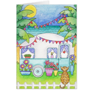 Caravan Art Greeting Card