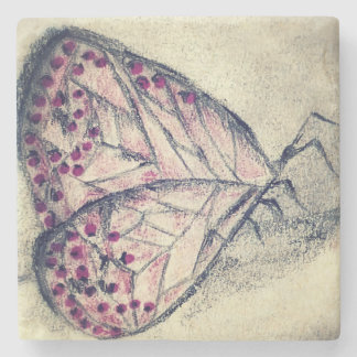 Carbon Butterfly, Marble Coaster