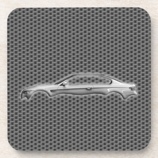 Carbon Car 3D Fashion Accessory Cool Design Coaster