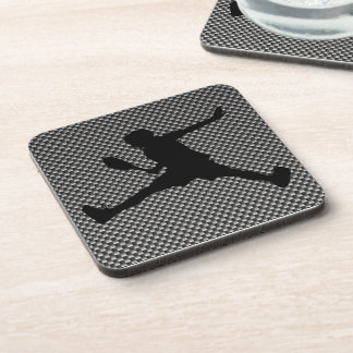 Carbon Fiber look Tennis Beverage Coaster