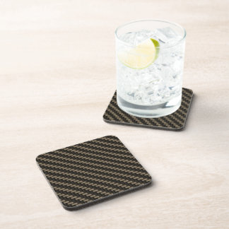 Carbon Fiber Pattern (faux) Beverage Coasters