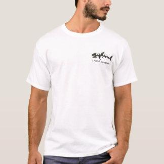 Carbon fiber thrash the shark front and back. Surf T-Shirt