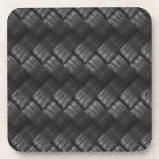Carbon Fibre Weave Texture Coaster
