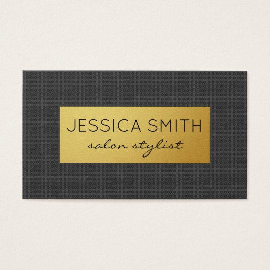 Carbon Print / Gold Metallic Business Card