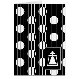 Card - Art Deco Raincross Design