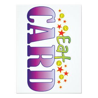 Card Eat 14 Cm X 19 Cm Invitation Card
