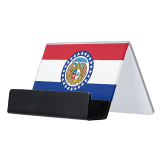 Card Holder with flag of Missouri State, USA