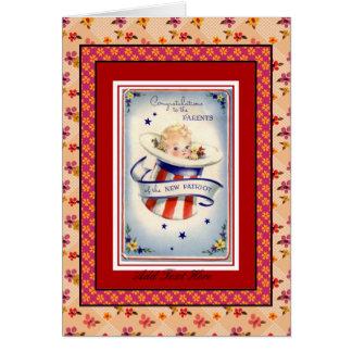 Card New Baby Congratulations Vintage
