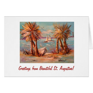 Card of Beautiful Bayfront of St. Augustine